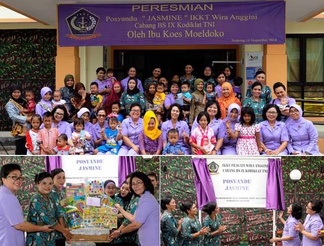 Posyandu Jasmine di Rusunawa Kodiklat TNI Serpong (Foto2: Puspen TNI