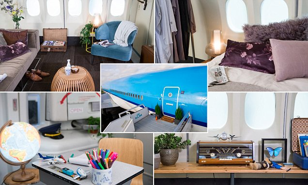 Jetliner Converted Into the Hotel of Aviation Enthusiasts` Dreams by KLM and Airbnb