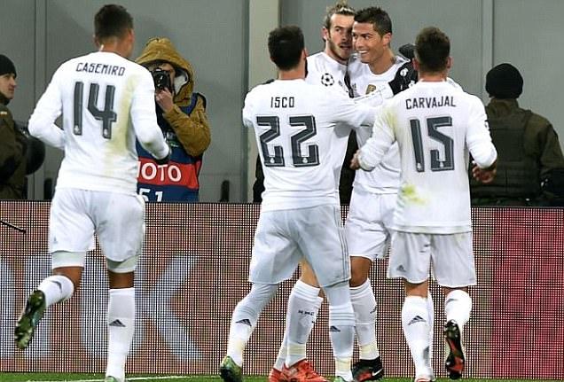 Gol Kedua Ronaldo ke Gawang Shakhtar Donetsk di Menit 70 Pastikan Kemenangan Madrid