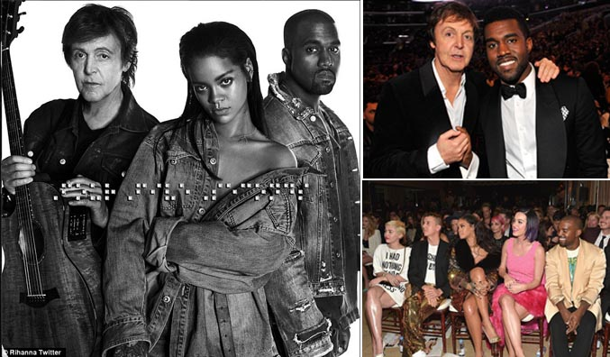 Paul McCartney, Kanye West Tampil di Tembang Terbaru Rihanna