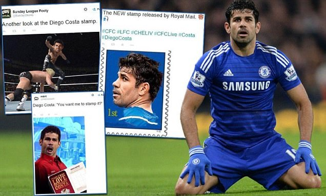 Costa Stamp Gets the Meme Treatment as Chelsea Star Escapes Red Card