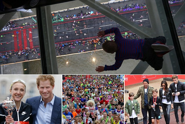 Bocah Saksikan London Marathon di Lantai Kaca Tower Bridge