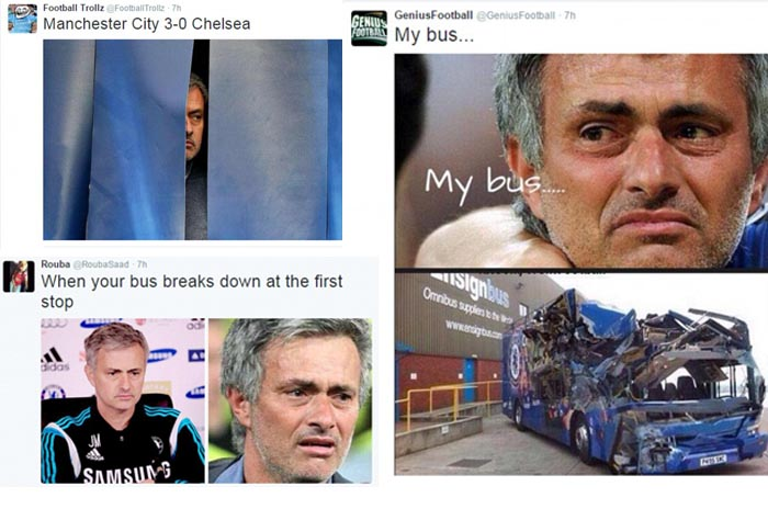Memes Mock Jose Mourinho after Manchester City Blow Chelsea at the Etihad?