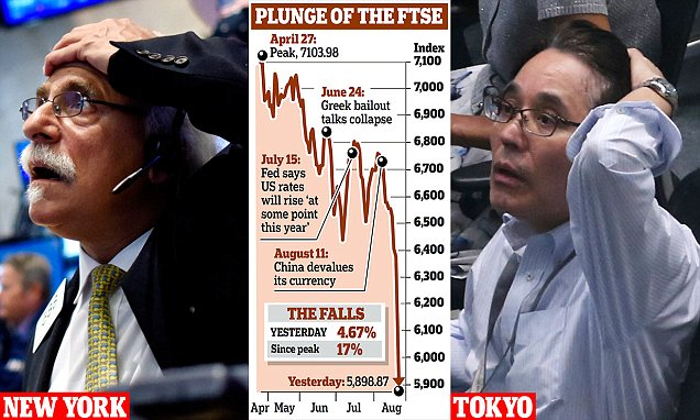 Great Fall of China: Shanghai and Tokyo Markets Plummet for a Second Day