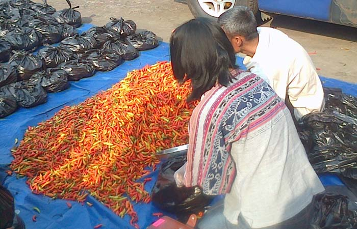 Chili Price in Jakarta`s Traditional Market Remain Skyrocketting
