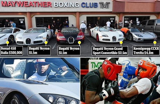 Floyd Mayweather Parks Fleet as He Counts Down to Fight No 49