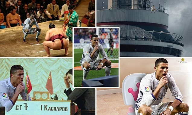 Ronaldo`s Crouched Celebration Against Atletico Madrid Becomes Hilarious Internet Sensation