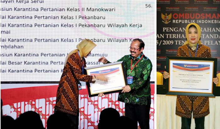 Indonesian Agriculture Ministry was Awarded the 2016 Best Services