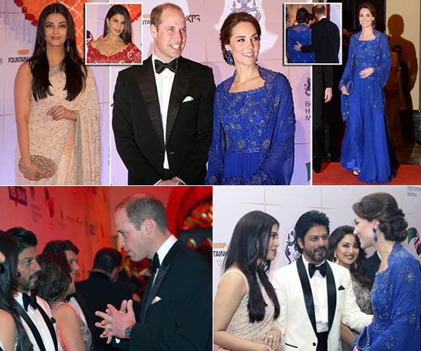 Pangeran William dan Kate Middleton Bertemu Bintang Bollywood