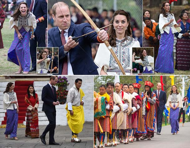 Pangeran William dan Kate Middleton Kunjungi Bhutan