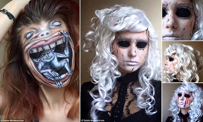 Makeup Artist Transforms Her Face into Mind-boggling Creations Inspired by Tim Burton