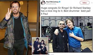 Paul McCartney Puji Ringo Starr atas Gelar `Ksatria` untuk Drummer The Beatles