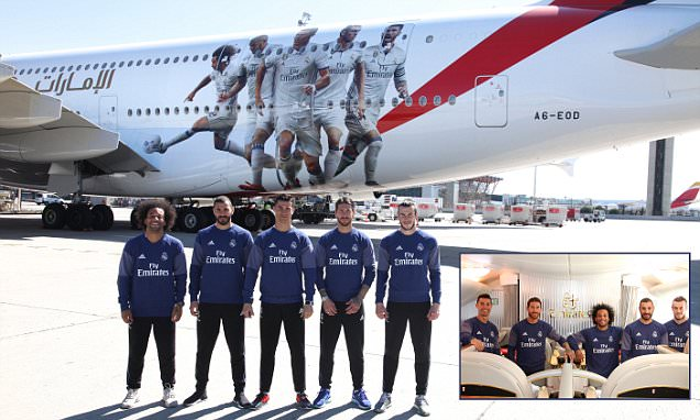 Is that a Real Plane? Ronaldo and Bale Help Unveil Jet in Tribute to Glory-hunting Giants?