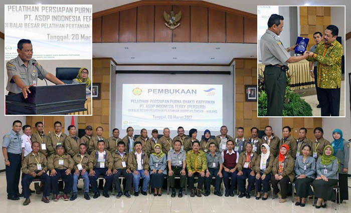 East Java`s BBPP Ketindan Support Training for SOEs`s Indonesia Ferry Who Will Retire