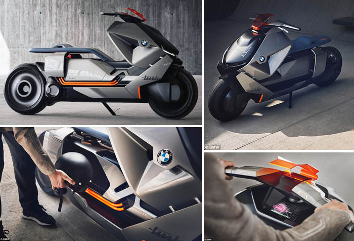 BMW Reveals Smart Scooter Concept that Always Knows Where You Want to Go