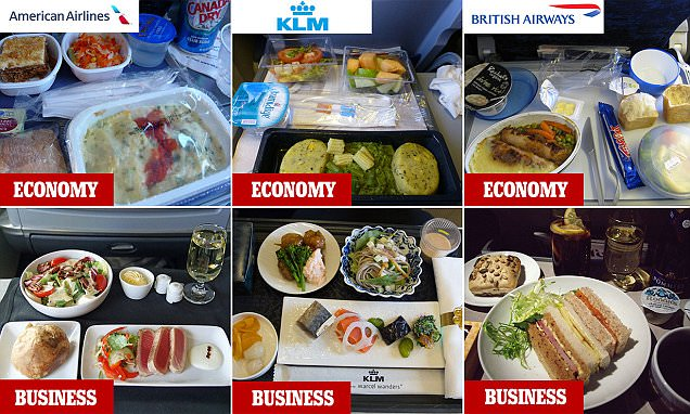 Snaps from Passengers Show How Plane Meals Differ in Business Class vs Economy?