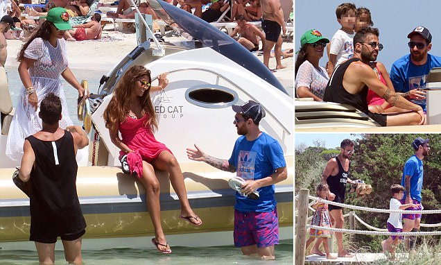 Messi and Fabregas Enjoy the Spanish Sun Together with Their Families?