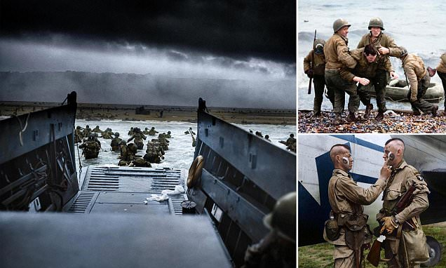 Black and White Photographs of Allied Troops Wading Ashore in France on D-Day are Transformed with Colour