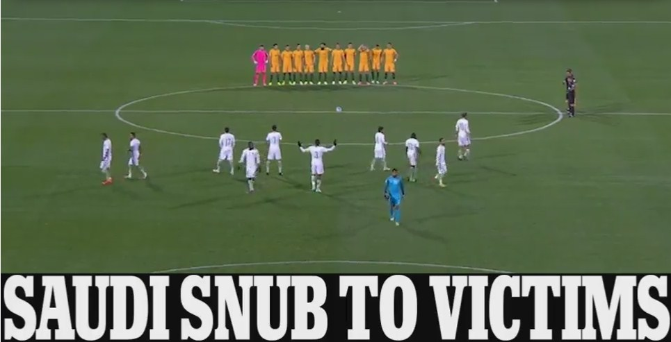 Saudi Arabia`s Football Team Snubs a Minute`s Silence in Adelaide for London Bridge