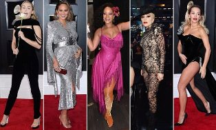 Gaun Miley Cyrus, Katie Holmes and Rita Ora Dinilai Terbaik di Karpet Merah Grammy Awards 60