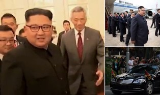 Kim Jong-un Steps Off an Air China Flight in Singapore for Historic Summit?