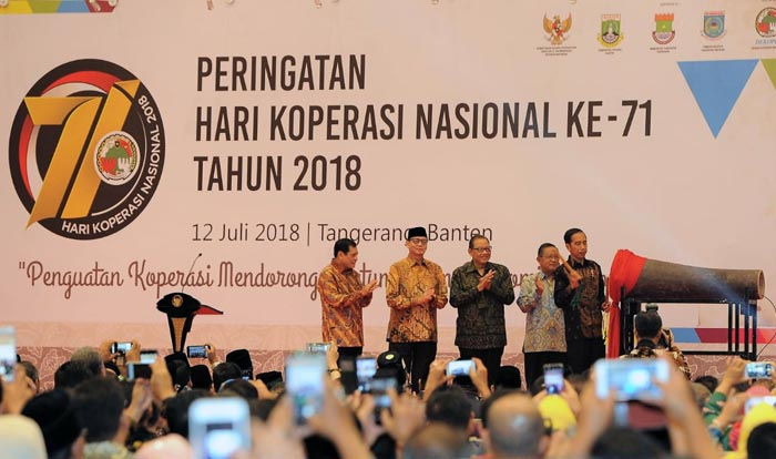 Indonesian President Appreciated the Cooperative`s Gross Domestic Product Rose to 4.48%