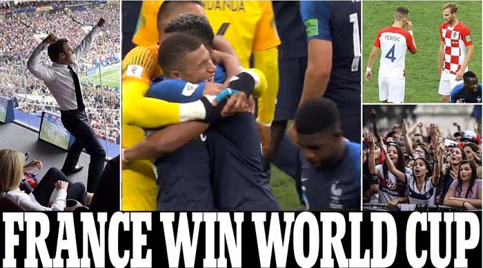 France Beat Croatia 4-2 as Billions of Football Fans around the World Watch the Game