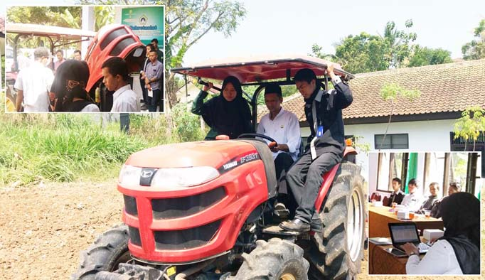 PKL Tematik, Mahasiswa Polbangtan Yogya - Magelang Dukung Bimtek Alsintan