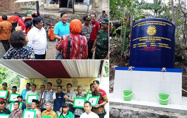 PJ Upsus Kebumen Apresiasi Bantuan Sumur Bor dan Alsintan dari ESDM dan Kementan
