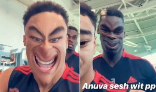 Lingard Jokes around with Pogba in the Gym ahead of Premier League Clash?