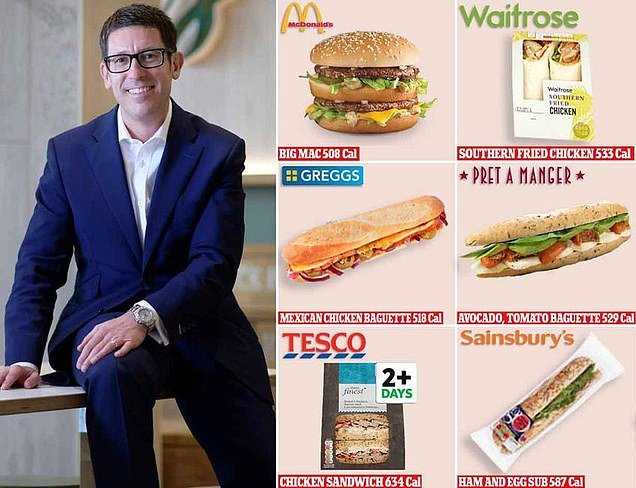 McDonald`s Chief Says Big Mac is Healthier than High Street Chain Sandwiches