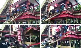 Man is Crushed to Death by His Own Mother`s Coffin on the Island of Sulawesi, Indonesia?