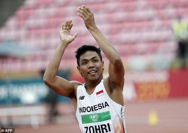 Indonesia Cheers Sprint Champ who Struggled to Pay for Trainers