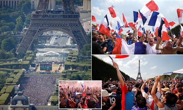 French Fans at Home and Abroad Erupt in Celebration of their Side`s Second World Cup Triumph