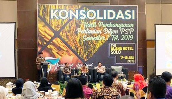 Development of Indonesian Agricultural Iinfrastructure was Evaluated by the Ministry