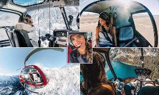 Pilot Heli Cantik Pukau lebih 170 Ribu Followers