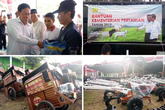 Indonesian Govt Gave Free Agricultural Machinery for Indramayu in Pictures