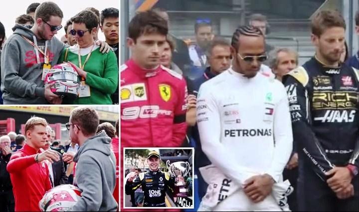 Lewis Hamilton Pimpin Doa atas Tewasnya Pembalap Anthoine Hubert