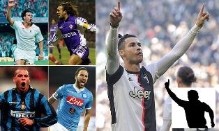 Cristiano Ronaldo has Reached 50 Goals in Italian Football Faster than Basten and Batistuta?
