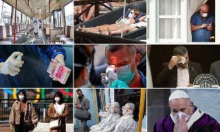 Warga Dunia Panik Dicekam Wabah Virus Corona, Ini Foto-fotonya