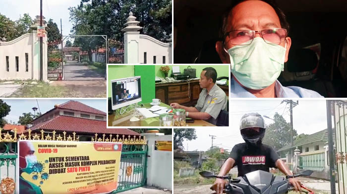 Gerbang Sanitasi, Kiat Polbangtan YoMa Tangkal Corona di Lingkungan Kampus