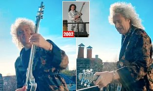 Brian May Records New Charity Single with Kings Daughters by Performing it on His Roof?