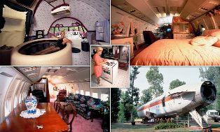 Penata Rambut Renovasi Boeing 727 jadi Rumah Mewah