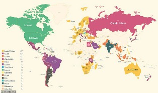 Fascinating Map Shows how Louis Vuitton is Everyone`s Favorite Fashion Brand?