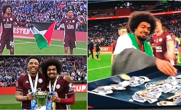 Pemain Leicester Kibar Bendera Palestina Usai Tekuk Chelsea 1 - 0