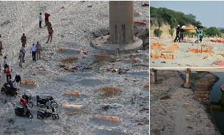 Polisi India Desak Warga Stop Kubur Jenazah Covid-19 di Tepi Sungai