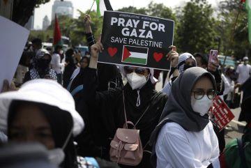 Bela Palestina di Kedubes AS jadi Sorotan Dunia