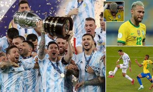 Tekuk Brasil 1 - 0: Lionel Messi Akhirnya Raih Trofi Internasional Pertama